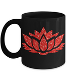 Perfect Christmas Holiday Gift Coffee Mug for The Yoga Lotus Lover!