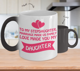 ❤ Stepdaughter Family Love Color Changing Coffee Mug Makes The Perfect Christmas Gift! ❤