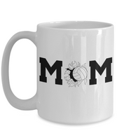 Volleyball Mom Coffee Mug - Mom Voice - I Love Mother Daughter-11Oz 15OZ Cup-Sport Gift for Girls