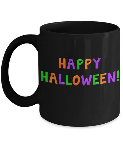 Happy Halloween Black Colorful Fun Coffee Mug! - GuysandGirlsGeneral