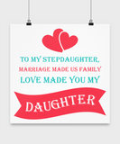 ❤ Stepdaughter Family Love Personal Poster Makes The Perfect Christmas Gift! ❤
