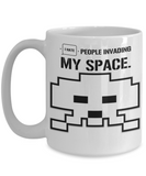 Space Invaders Hate People Coffee Mug