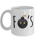 Funny Mug For The 'F' Bomber- Droppin' F Bombs Funny Coffee Mug- Sarcastic Funny Birthday Anniversary Gift Mug for Those Women F Bomb Droppers - GuysandGirlsGeneral