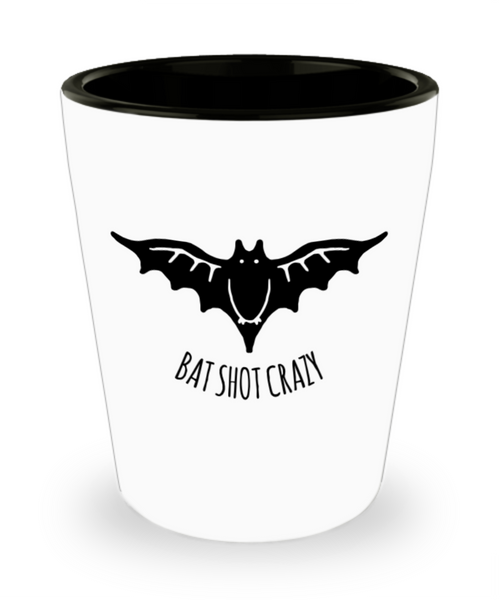Black Bat Shot Crazy Halloween Adult Shot Glass!