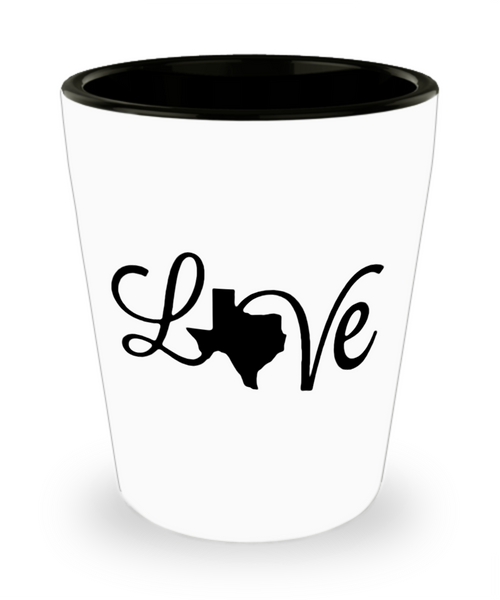 Texas Love Strong Christmas Holiday Gift Shot Glass!