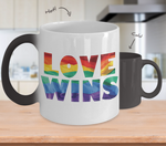 Love Wins- LGBT- Pride Magic Color Changing Coffee Mug- LGBT Coffee Mug- Love Wins