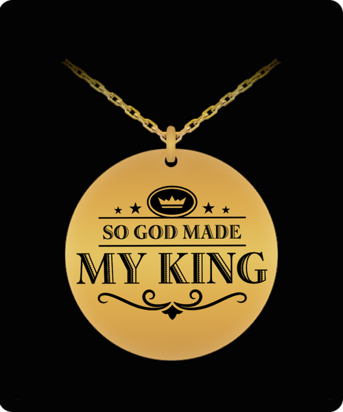 My King Round Laser (Gold) Necklace- BLACK FRIDAY SALE