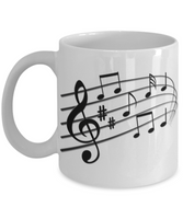 The Perfect Christmas Holiday Coffee Mug Gift For The Music Lover!