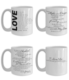 Perfect Christmas Holiday Faith 4 Pack Gift Coffee Mugs for The Believer!