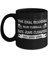 Funny Coffee Mug Christmas Gift For Wine Drinking Moms!