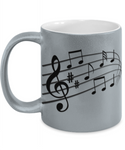 The Perfect Christmas Holiday Silver Coffee Mug Gift For The Music Lover in Your Life!