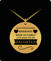 Stepdaughter Love Christmas Holiday Gift Laser Engraved Necklace!