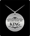 My King Round Laser Necklace- BLACK FRIDAY SALE