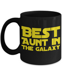 Star Wars Aunt Black Coffee Mug- BLACK FRIDAY SALE