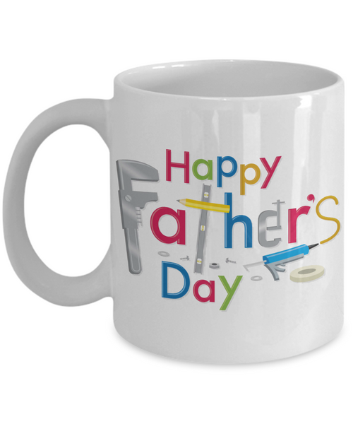 Happy Father's Day Tool Carpenter Construction Contractor Dad Father's Day New Dad Coffee Mug Gift for Dads s who Love Tools Construction Worker Gifts Carpenter Dad Gifts