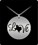 Texas Love Strong Christmas Holiday Gift Laser Engraved Necklace!