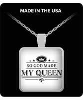 My Queen Silver Pendant Necklace- Perfect Gift for Wife Girlfriend