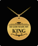 My King Round (Gold) Laser Necklace- BLACK FRIDAY SALE