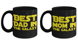 STAR WARS Couple Mom Dad Coffee Mug Gift Set- Star Wars Fans- Galaxy Gifts- Parents Mother Father Gifts- Star Wars Mommy Dad Gifts …