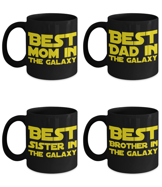 STAR WARS FAMILY 4PK Gift Coffee Mug Set!
