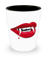Dracula Halloween Sexy Lips & Teeth Adult Fun Shot Glass! - GuysandGirlsGeneral