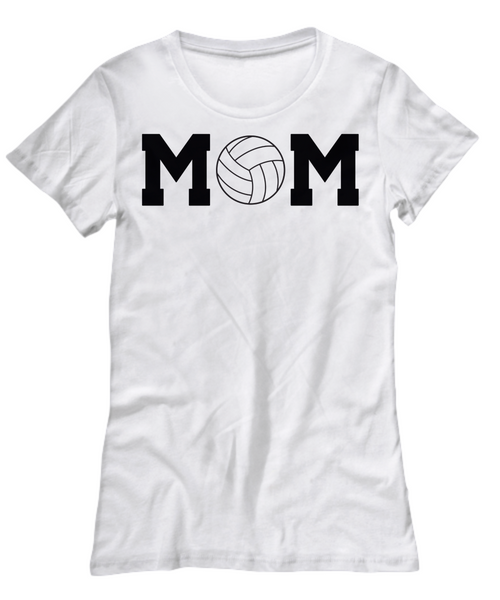Best Volleyball Mom Ever T-Shirt -Mom Voice- My Heart is On That Court Mother Dad Daughter 6 Colors - GuysandGirlsGeneral