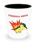 Perfect Christmas Holiday Gift Adult Funny Fireball Shits Shot Glass!