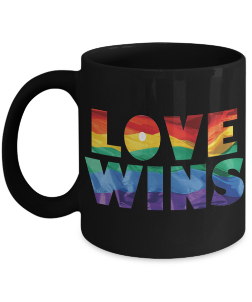 Love Wins- LGBT- Pride Coffee Mug- LGBT Coffee Mug- Love Wins