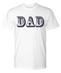 Dad Blue and White Bold Lettering T-Shirt Father's Day Birthday New Dad T-Shirt Gift for Dads