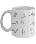 Yoga is Life Coffee Mug for Yogi's | Yoga Lover Coffee Mug | Yoga Teacher Gifts | I Love Yoga