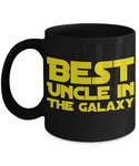 Star Wars Uncle Black Coffee Mug- BLACK FRIDAY SALE Great Christmas Gift!