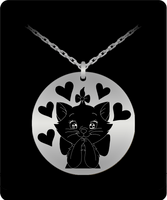 Beautiful Black Cat Stainless Steel Laser Necklace Christmas Gift for the Cat Lover! - GuysandGirlsGeneral