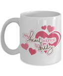 My Heart Belongs To Daddy- Daughter to Daddy Coffee Mug- Birthday Father's Day Gift Dad from Daughter