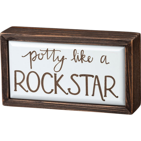 Box Sign - Potty Like A Rock Star