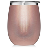 UNCORK'D XL 14 OZ WINE TUMBLER | GLITTER ROSE