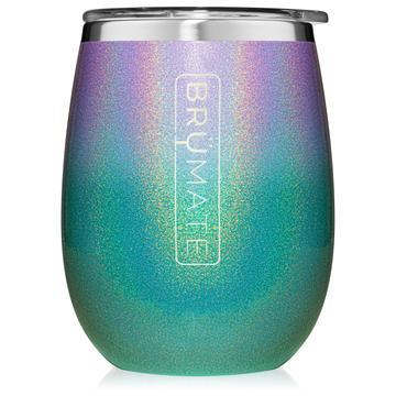 UNCORK'D XL 14 OZ WINE TUMBLER | GLITTER MERMAID