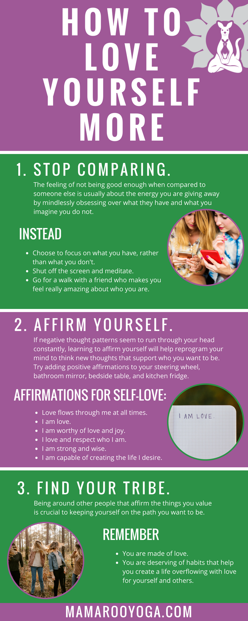 How to love yourself more graphic