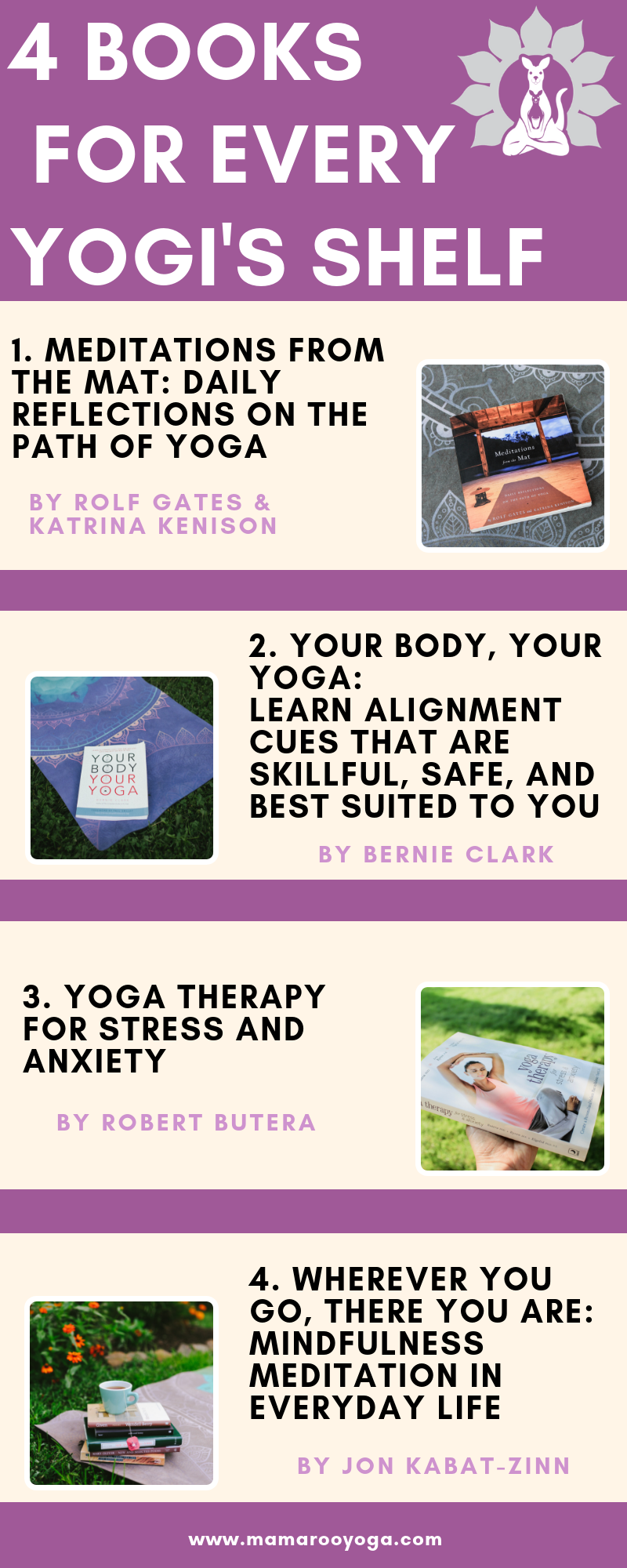 4 Books for Every Yogi's Shelf Graphic