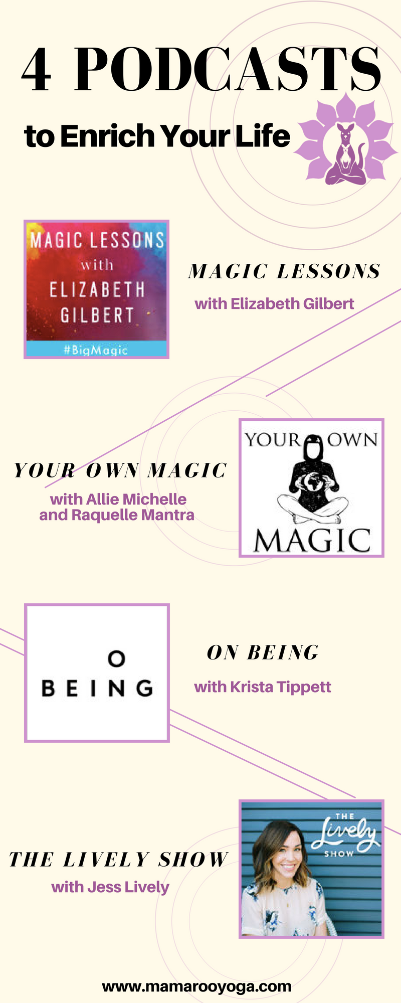 4 podcasts to enrich your life graphic