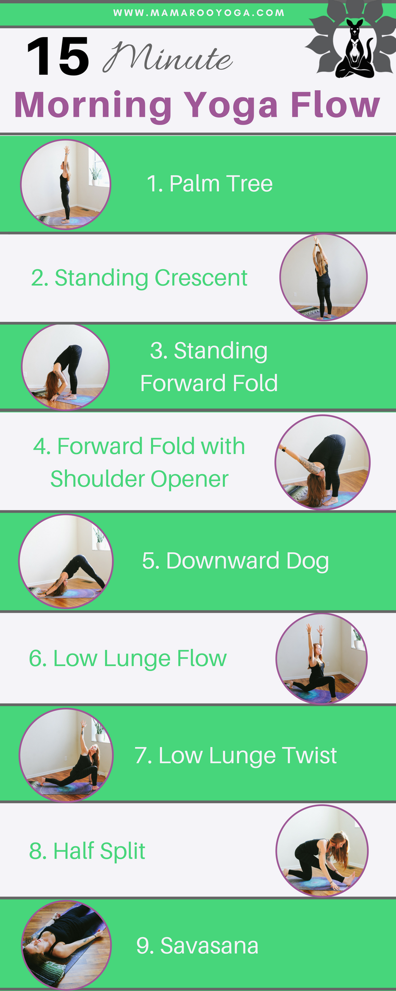 15 Minute Morning Yoga Flow Graphic