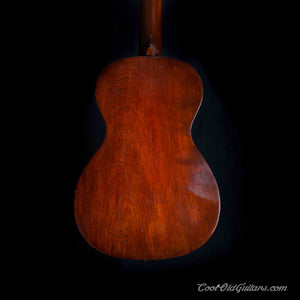 Vintage Early 1900's American Acoustic Parlor Guitar with Tailpiece
