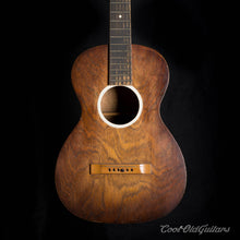 Vintage 1930s American Acoustic Parlor Guitar - Tobacco Sunburst with Waverly Tuners and Mojo