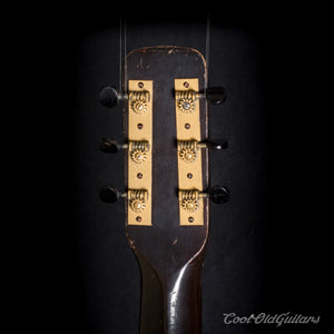 Vintage 1930s First National Allied Arts Vintage Acoustic Flattop Guitar with Vintage Waverly Tuners