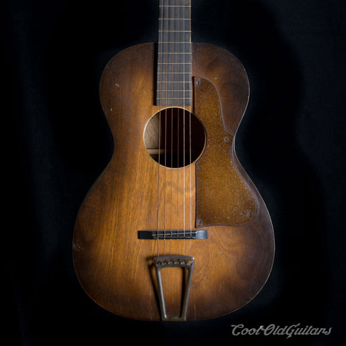 Vintage 1920s-30s First National Institute of Allied Arts Acoustic Guitar with Waverly Tuners