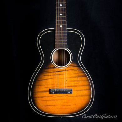 Vintage 1950s - 60s Silvertone Sunburst Acoustic Parlor Guitar with Waverly Tuners