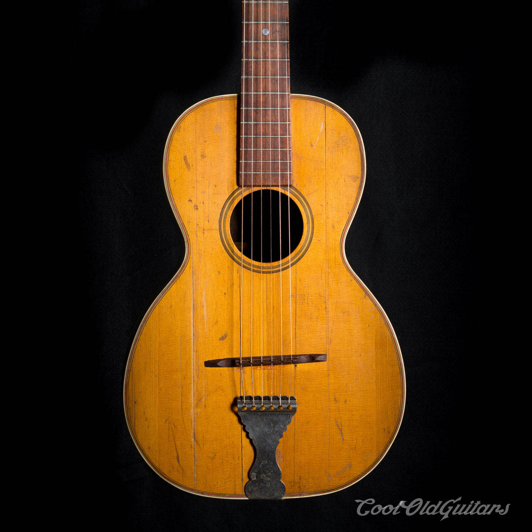 Antique 1890s - 1910s American Parlor Guitar