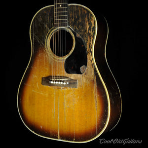 Vintage 1940s Gibson Southern Jumbo Acoustic Guitar with J45 Neck