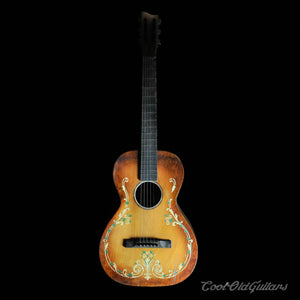 1930s Regal / Stromberg-Voisinet Ornate Stencil Parlor Guitar