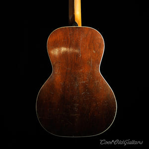 Vintage 1920s Acoustic Parlor Guitar with Hawaiian Artwork