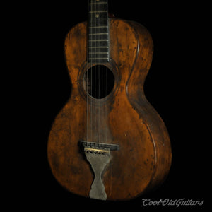 Late 1800s - Early 1900s Eugene Howard Vintage Acoustic Parlor Guitar